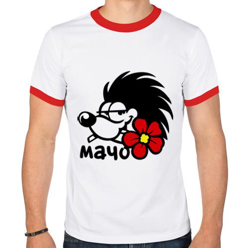 Мужская футболка рингер  Фото 01, Игривый мачо