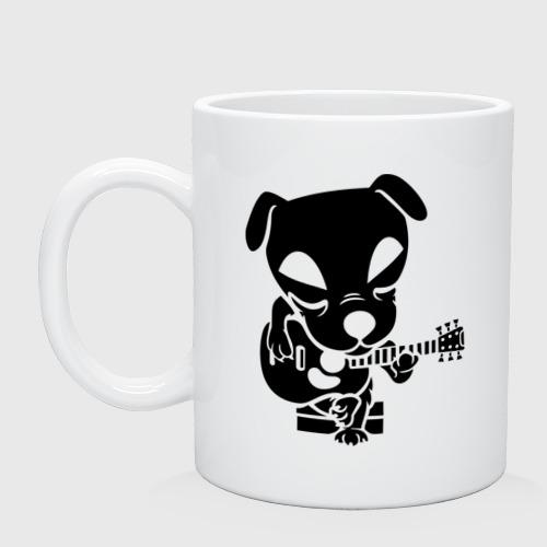 Собака играет на гитаре