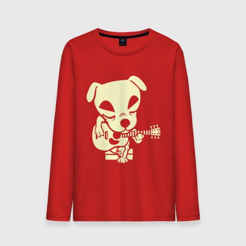 Собака играет на гитаре (glow)