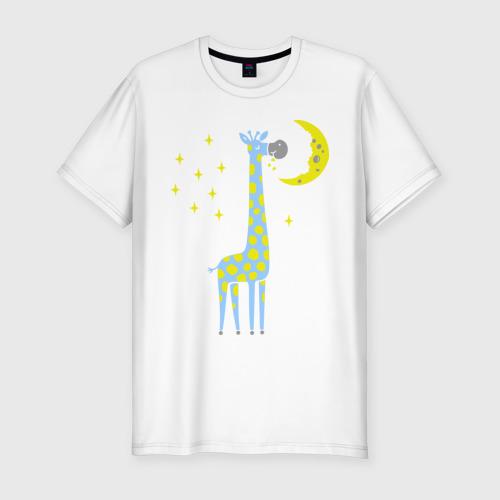 Мужская футболка премиум Сказочный жираф Фото 01