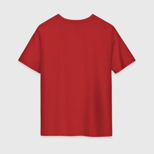Женская футболка хлопок Oversize Сказочный жираф Фото 01