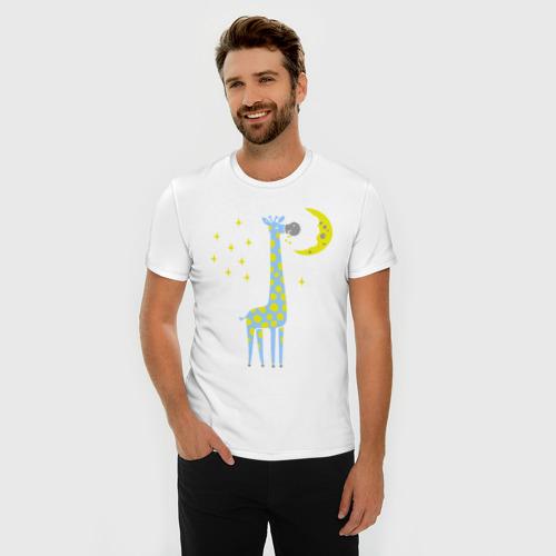 Мужская футболка хлопок Slim Сказочный жираф Фото 01