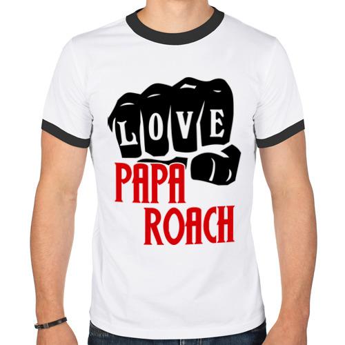 Мужская футболка рингер  Фото 01, Love Papa Roach.