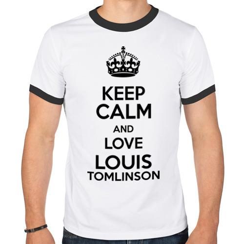 Мужская футболка рингер  Фото 01, Keep calm and love Louis Tomlinson