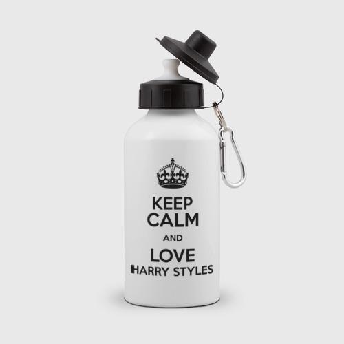 Бутылка спортивная Keep calm and love Harry Styles