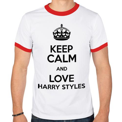 Мужская футболка рингер  Фото 01, Keep calm and love Harry Styles