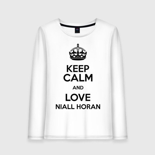 Женский лонгслив хлопок  Фото 01, Keep calm and love Niall Horan