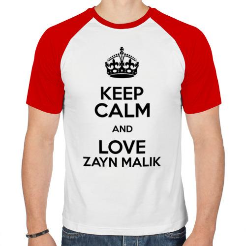 Мужская футболка реглан  Фото 01, Keep calm and love Zayn Malik