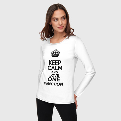 Женский лонгслив хлопок  Фото 03, Keep calm and love One Direction