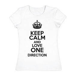 Keep calm and love One Direction - интернет магазин Futbolkaa.ru