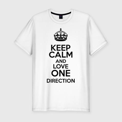 Мужская футболка премиум  Фото 01, Keep calm and love One Direction