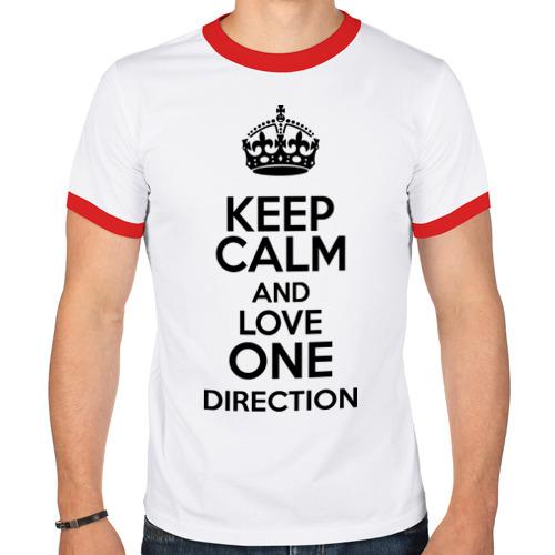 Мужская футболка рингер  Фото 01, Keep calm and love One Direction