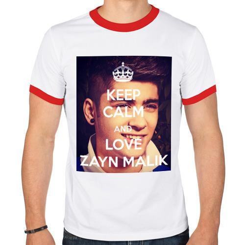 Мужская футболка рингер  Фото 01, Keep calm and love Zayn Malik