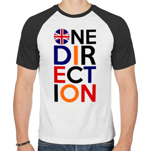Мужская футболка реглан  Фото 01, One direction