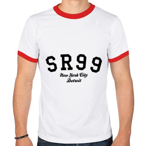 Мужская футболка рингер  Фото 01, SR99 NY