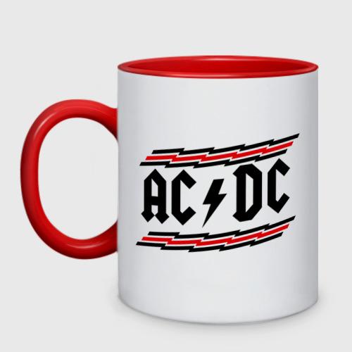 Кружка двухцветная ACDC