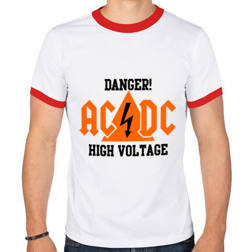 Мужская футболка рингер  Фото 01, ADCD high voltage