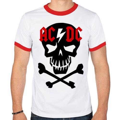 Мужская футболка рингер  Фото 01, ACDC skull