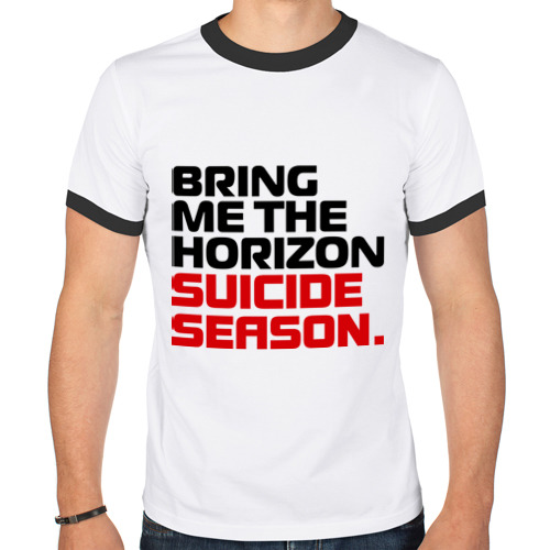 Мужская футболка рингер  Фото 01, Suicide season