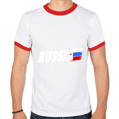 Мужская футболка рингер  Фото 01, Russia (Россия)