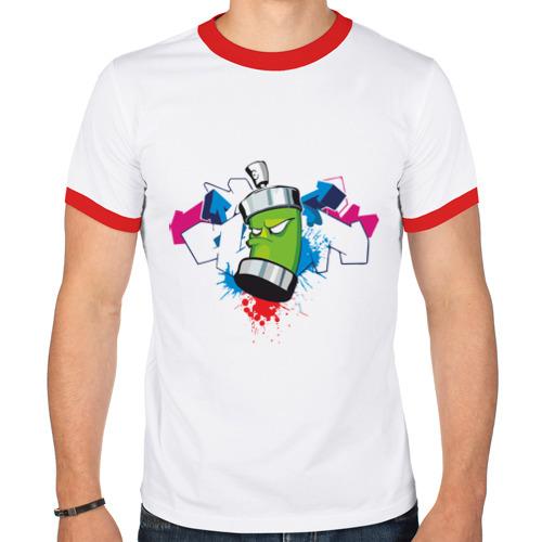 Мужская футболка рингер  Фото 01, Графитюлька