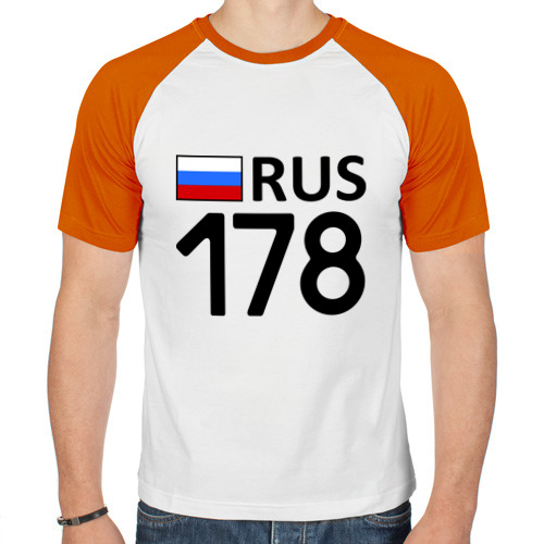 Мужская футболка реглан  Фото 01, Санкт-Петербург (178)