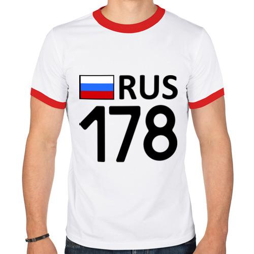 Мужская футболка рингер  Фото 01, Санкт-Петербург (178)