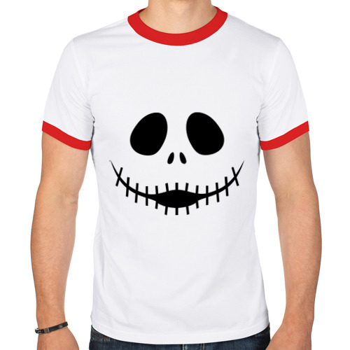 Мужская футболка рингер  Фото 01, Монстр с зашитым ртом