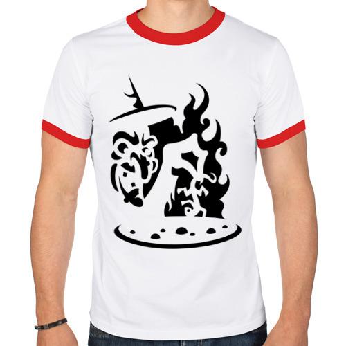 Мужская футболка рингер  Фото 01, Сваренный заживо