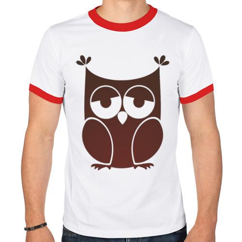 Мужская футболка рингер  Фото 01, Совушка