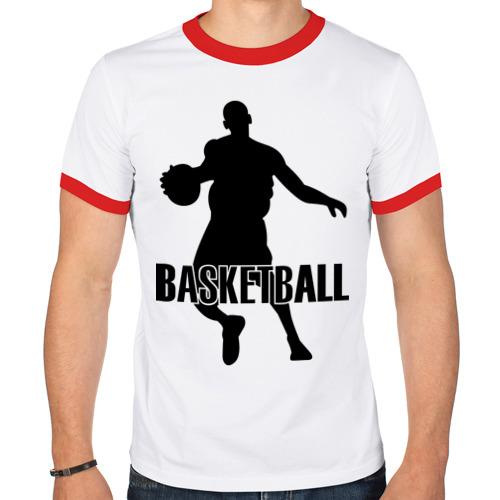 Мужская футболка рингер  Фото 01, Баскетбол (Basketball) .