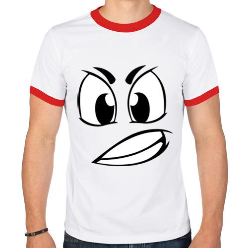 Мужская футболка рингер  Фото 01, Сердитый