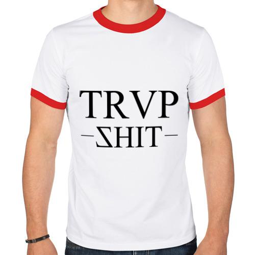 Мужская футболка рингер  Фото 01, trap shit