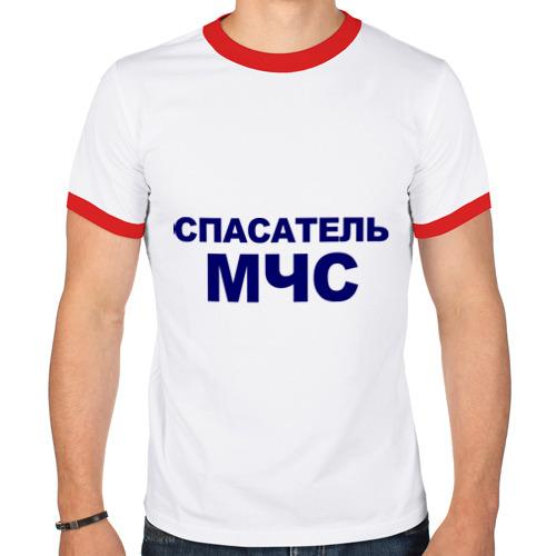 Мужская футболка рингер  Фото 01, Спасатель МЧС