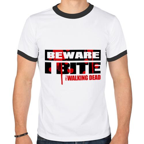 Мужская футболка рингер  Фото 01, Beware i bite