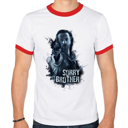 Мужская футболка рингер  Фото 01, Sorry brother