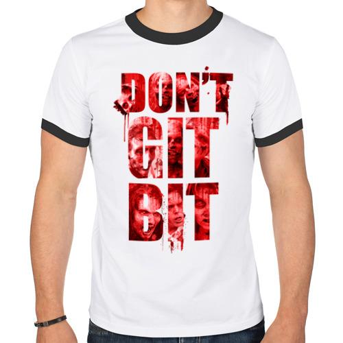 Мужская футболка рингер  Фото 01, Don't git bit