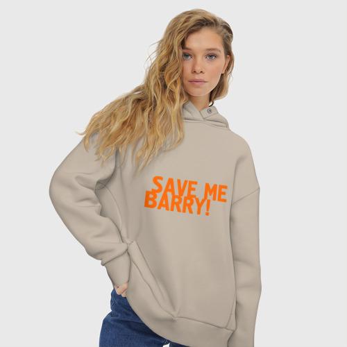 Женское худи Oversize хлопок Save me, Barry! Фото 01