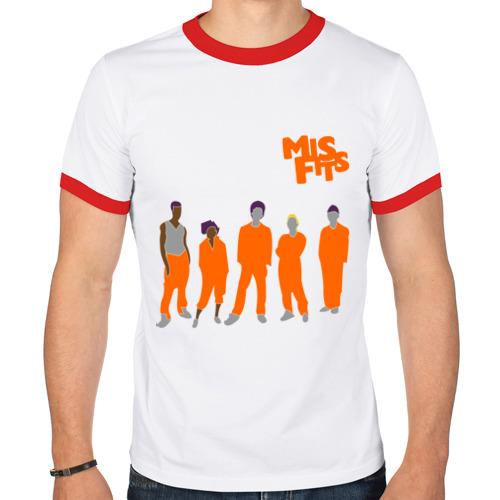 Мужская футболка рингер  Фото 01, Misfits