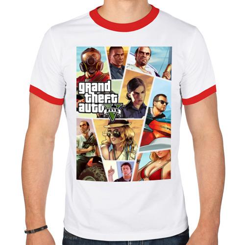 Мужская футболка рингер  Фото 01, GTA