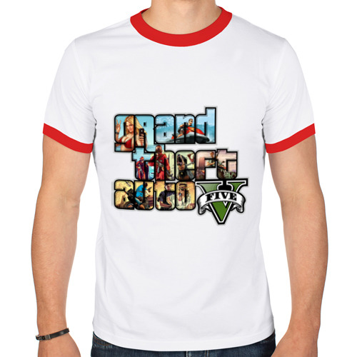 Мужская футболка рингер  Фото 01, GTA 5