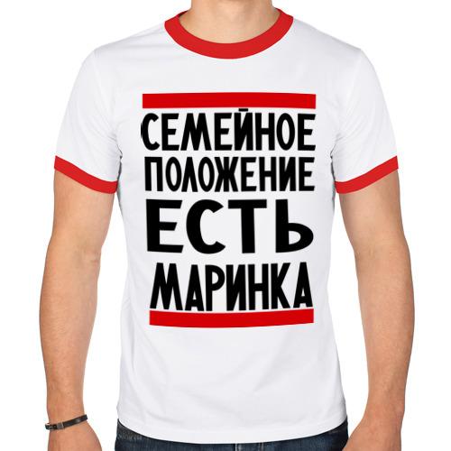 Мужская футболка рингер  Фото 01, Есть маринка