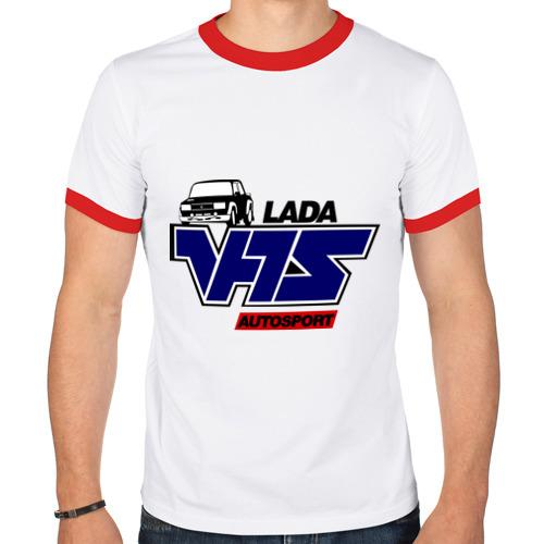 Мужская футболка рингер  Фото 01, Lada VFTS