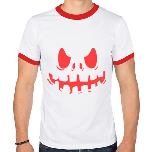 Мужская футболка рингер  Фото 01, Страшное лицо