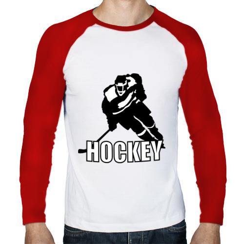 Мужской лонгслив реглан  Фото 01, Hockey (Хоккей)