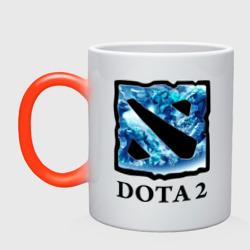 Dota 2 logo blue - интернет магазин Futbolkaa.ru