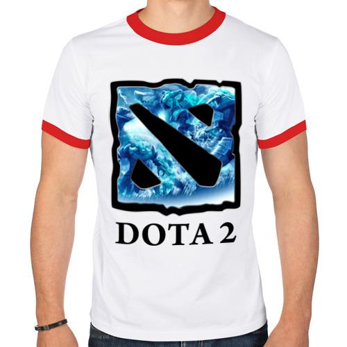 Мужская футболка рингер  Фото 01, Dota 2 logo blue