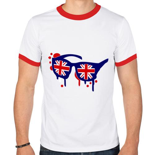 Мужская футболка рингер  Фото 01, Очки (британский флаг)