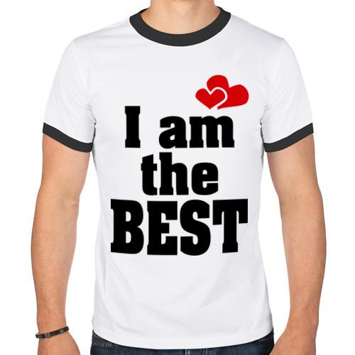 Мужская футболка рингер  Фото 01, I am the best