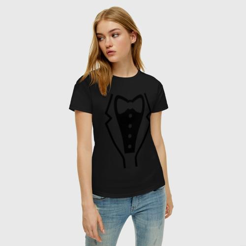 Женская футболка хлопок Класcический смокинг Фото 01